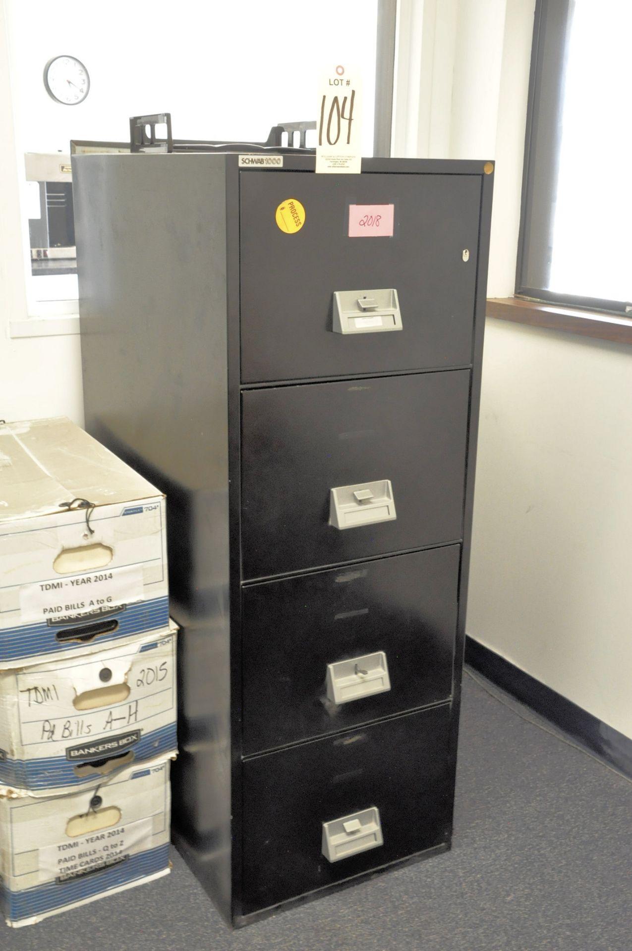 Lot 104 - Schwab 1000, Fire Resistant Legal File Cabinet