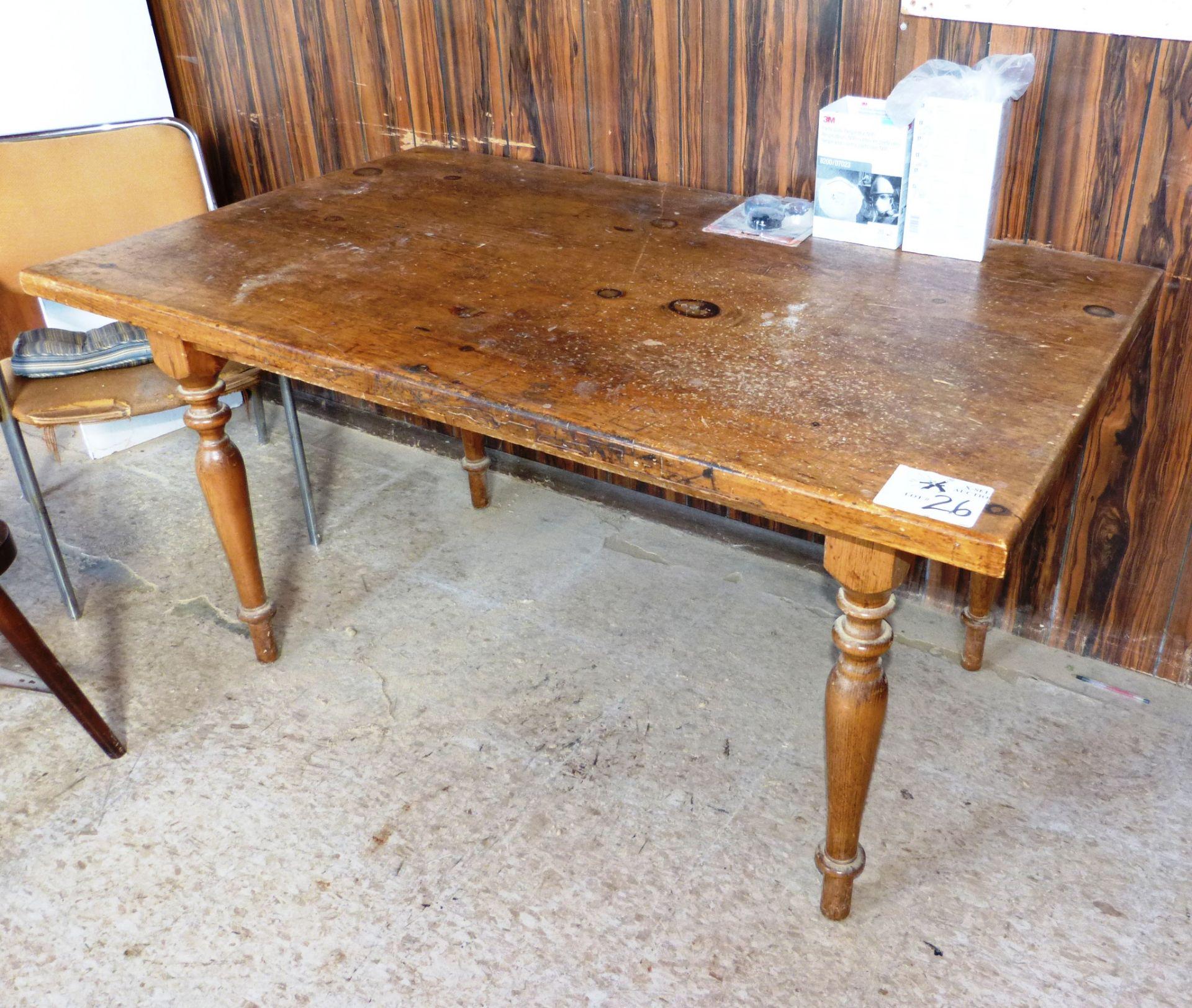 Lot 26 - Wood Harvest Table
