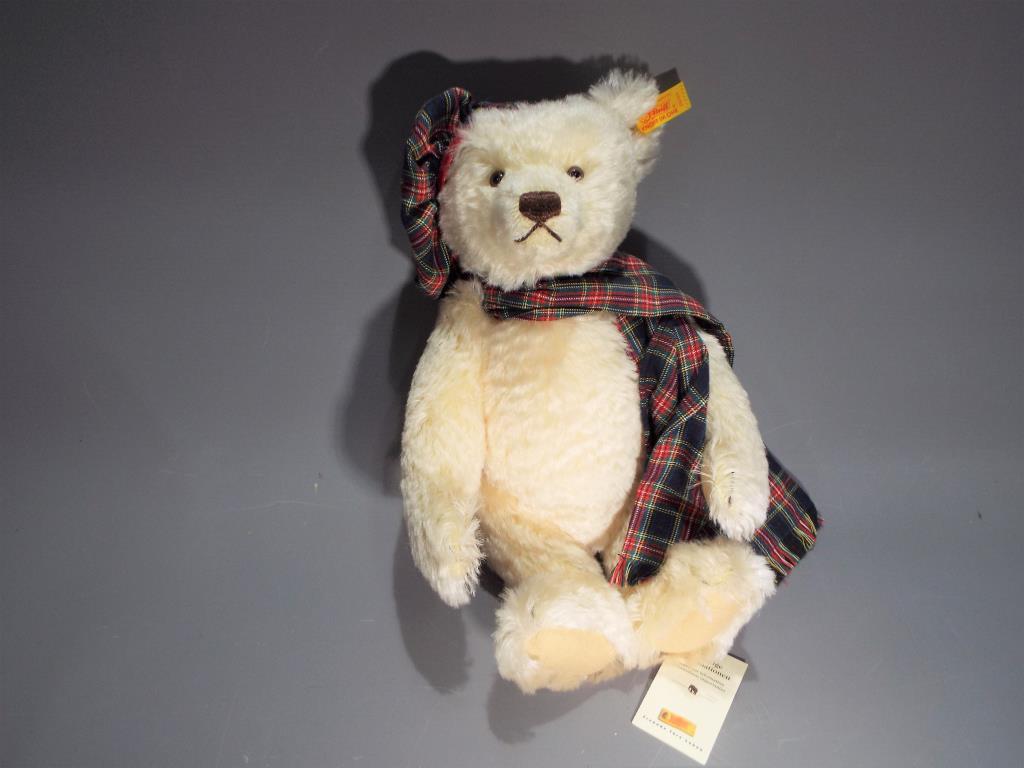 Lot 54 - Steiff - a hand-made Bear entitled Hamish from the 'Steiff Four Seasons Bears' series by Danbury