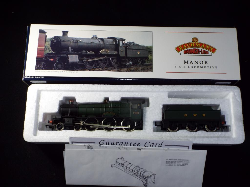 Lot 44 - Bachmann - A boxed OO Gauge No.31-305 4-6-0 Manor Class Steam Locomotive and Tender. Op.No.