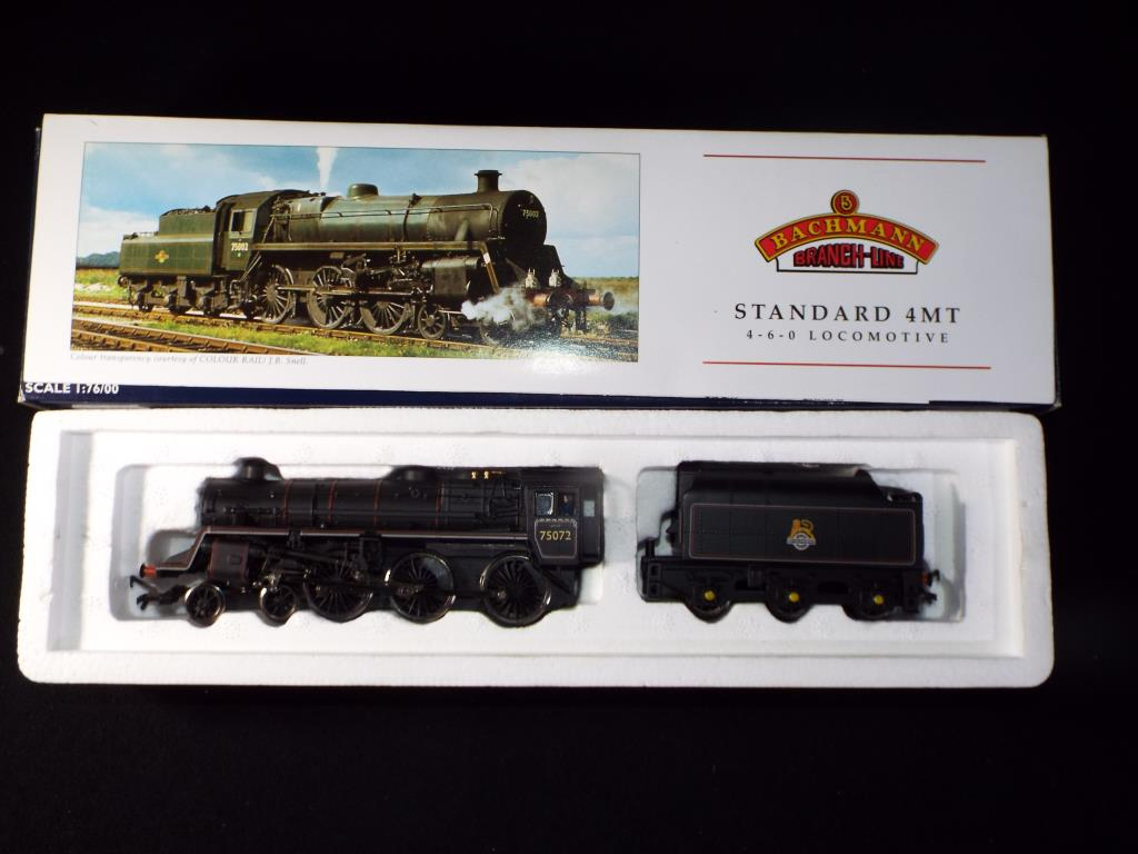 Lot 33 - Bachmann - A boxed OO Gauge No.31-102A Class 4MT 4-6-0 Steam Locomotive and Tender, Op.No.