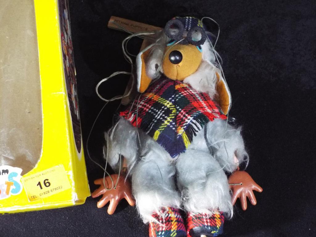 Lot 16 - Pelham Puppets The Wombles - a Pelham Puppet of Great Uncle Bulgaria in a Pelham box,