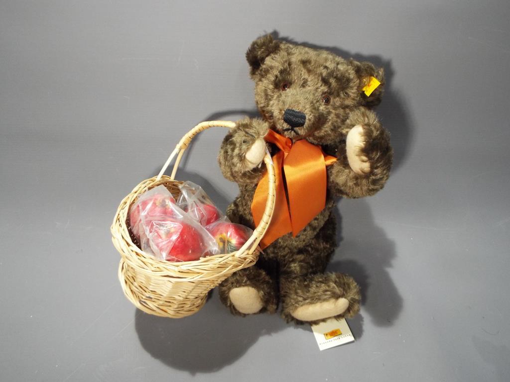 Lot 56 - Steiff - a hand-made Bear entitled Scrumpy from the 'Steiff Four Seasons Bears' series by Danbury