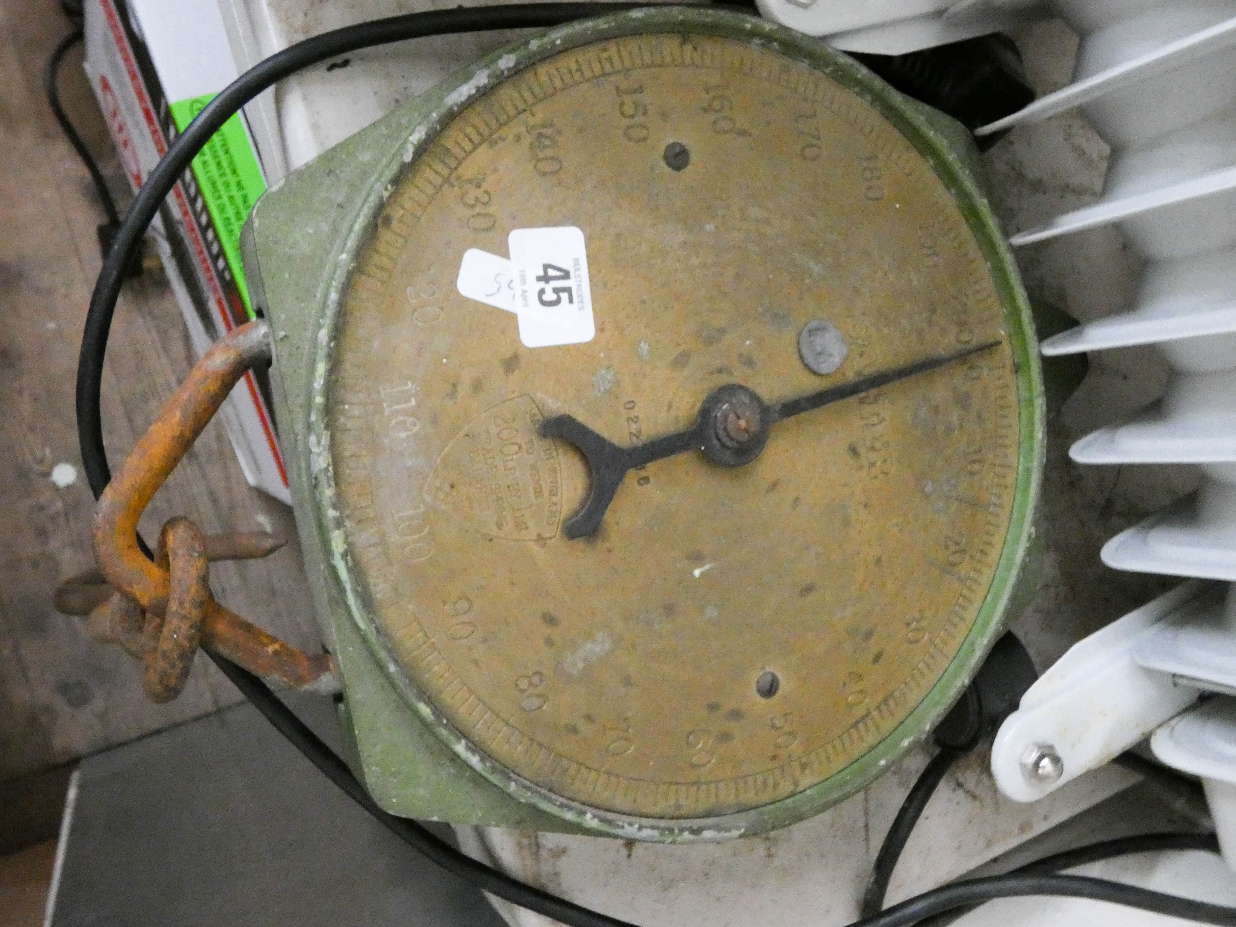 Lot 45 - A Salter 200lb scales with brass face