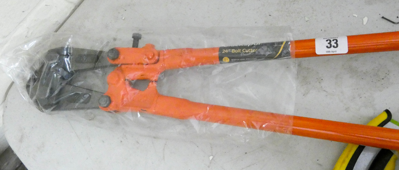 "Lot 33 - A new 24"" bolt cutters"