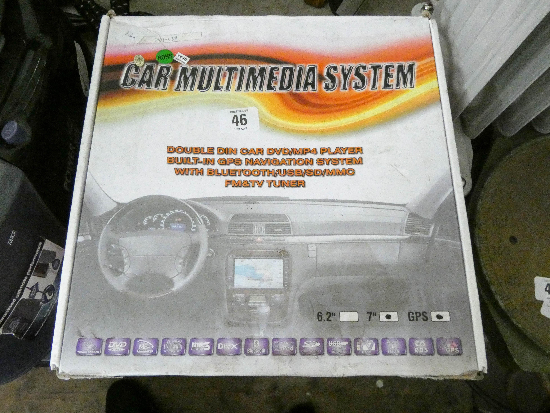 Lot 46 - A car multimedia system