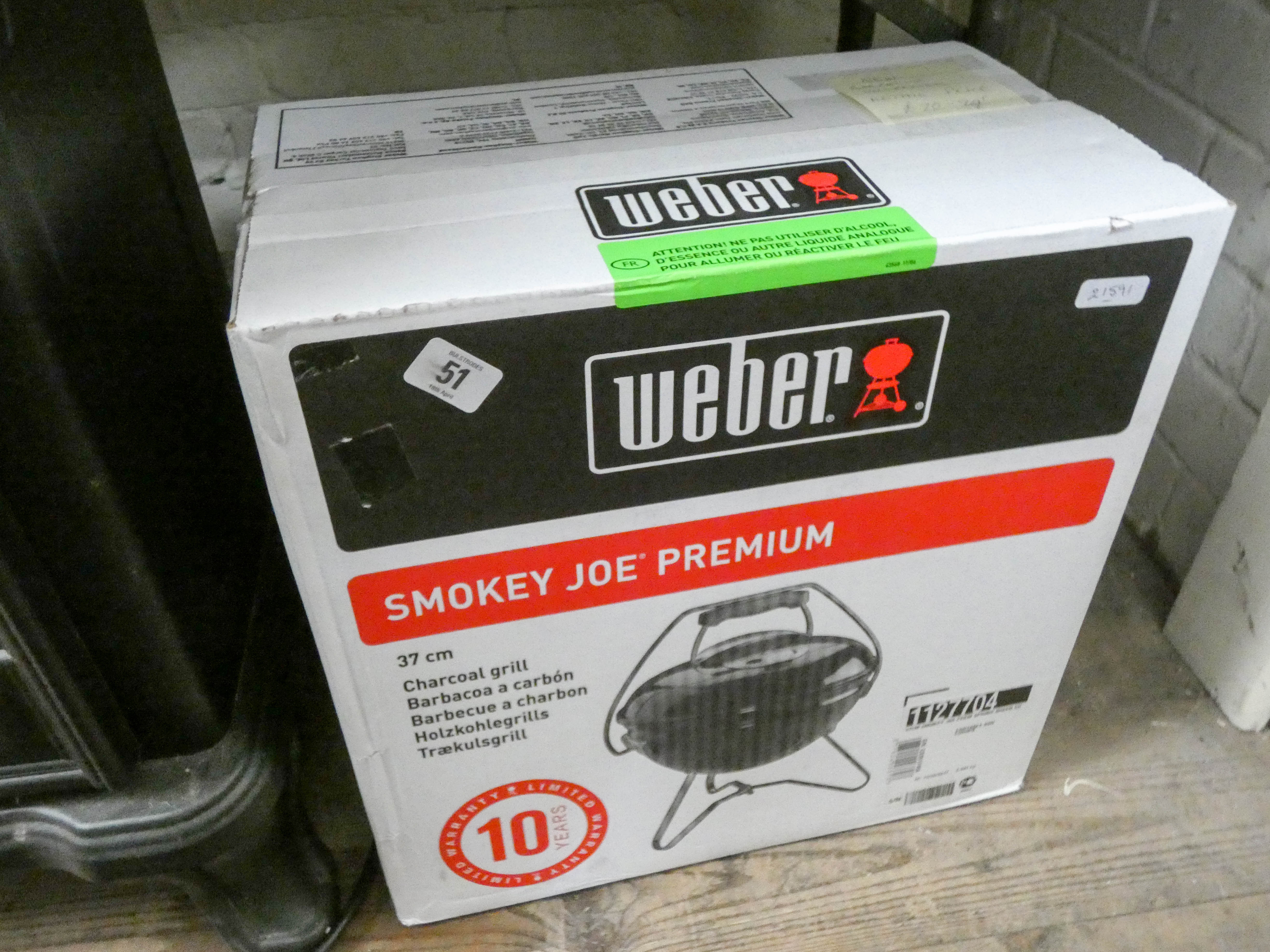 Lot 51 - A new unopened Smoky Joe barbecue