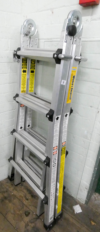 Lot 16 - A lightweight aluminium multipurpose ladder