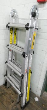 Lot 16 - A lightweight aluminium multipurpose ladder