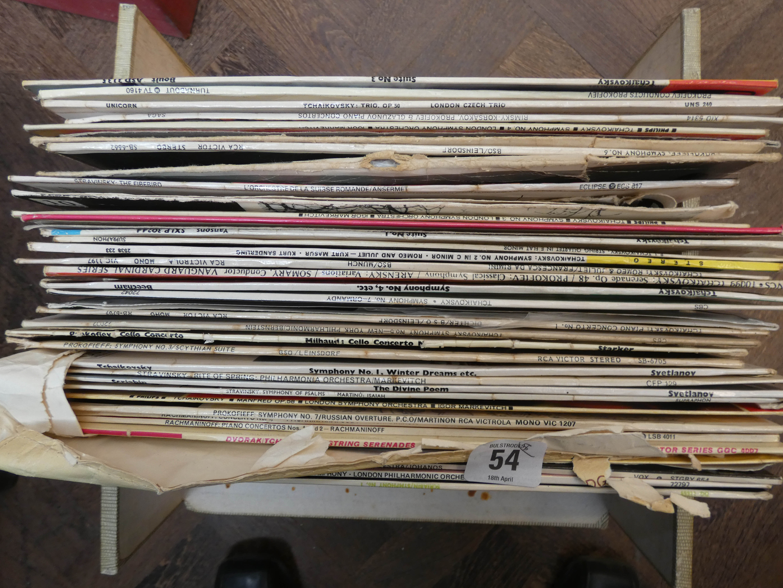 Lot 54 - Eight boxes of Vinyl LP records,