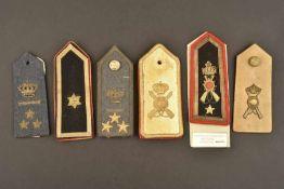 Ensemble de 6 épaulettes seule pour officier de l'armée royale italienne comportant deux modèles
