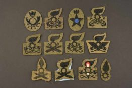 Insignes de spécialité de l'armée italienneDouze insignes de modèles différents. Il s'agit d'