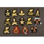 Insignes de spécialité de l'armée italienneQuatorze insignes de modèles différents pour la troupe.