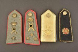 Ensemble d'épaulettes seules de l'armée royale italienneComprenant quatre épaulettes seules d'