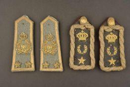 Paires d'épaulettes de grande tenue d'officier de l'armée Royale italienneComprenant une paire d'