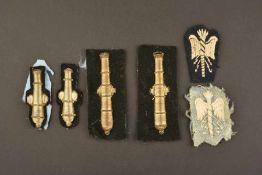 Ensemble de 6 insignes de spécialité de l'armée italienneComprenant 4 modèles brodés de fils d'or