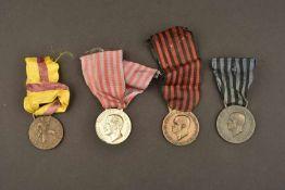 Ensemble de décorations de l'armée royale italienneComprenant une médaille pour la campagne de