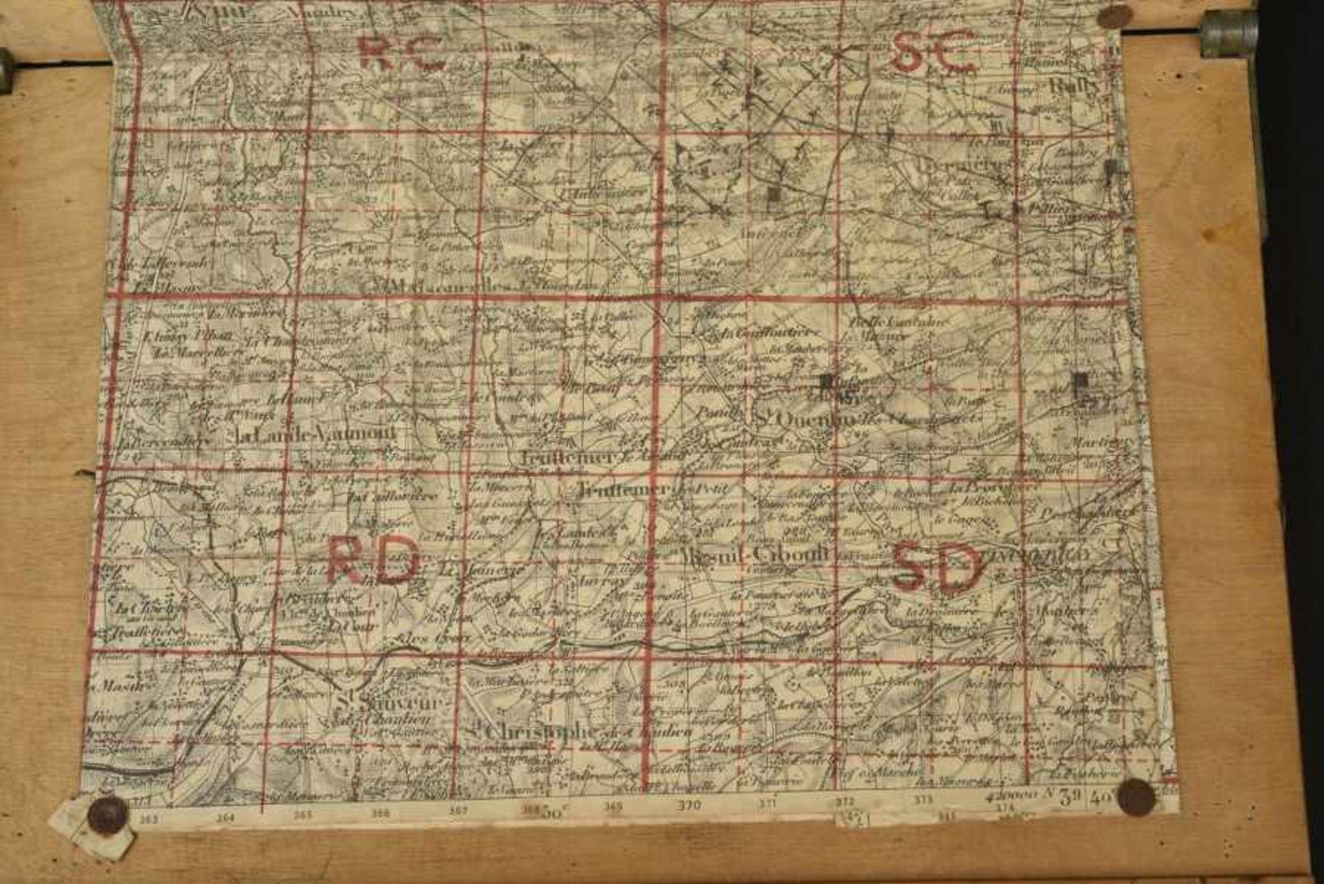 Carte d'Etat Major du secteur de Chênedollé, lieu d'un important combat de blindés entre Willy Fey - Bild 2 aus 4