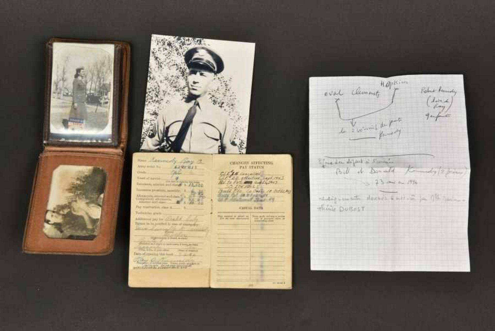 Portefeuille de Ray Kennedy Compagnie E du 507th PIR de la 82ème Airborne. Pocket book belonging