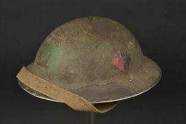 Casque du soldat Arthur George Jeynes du Welch Regiment 160th infantry brigade de la 53rd infantry