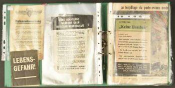 Tracts allemand de l'année 1940Classeur contenant 73 tracts divers, en allemand, couvrant l'année