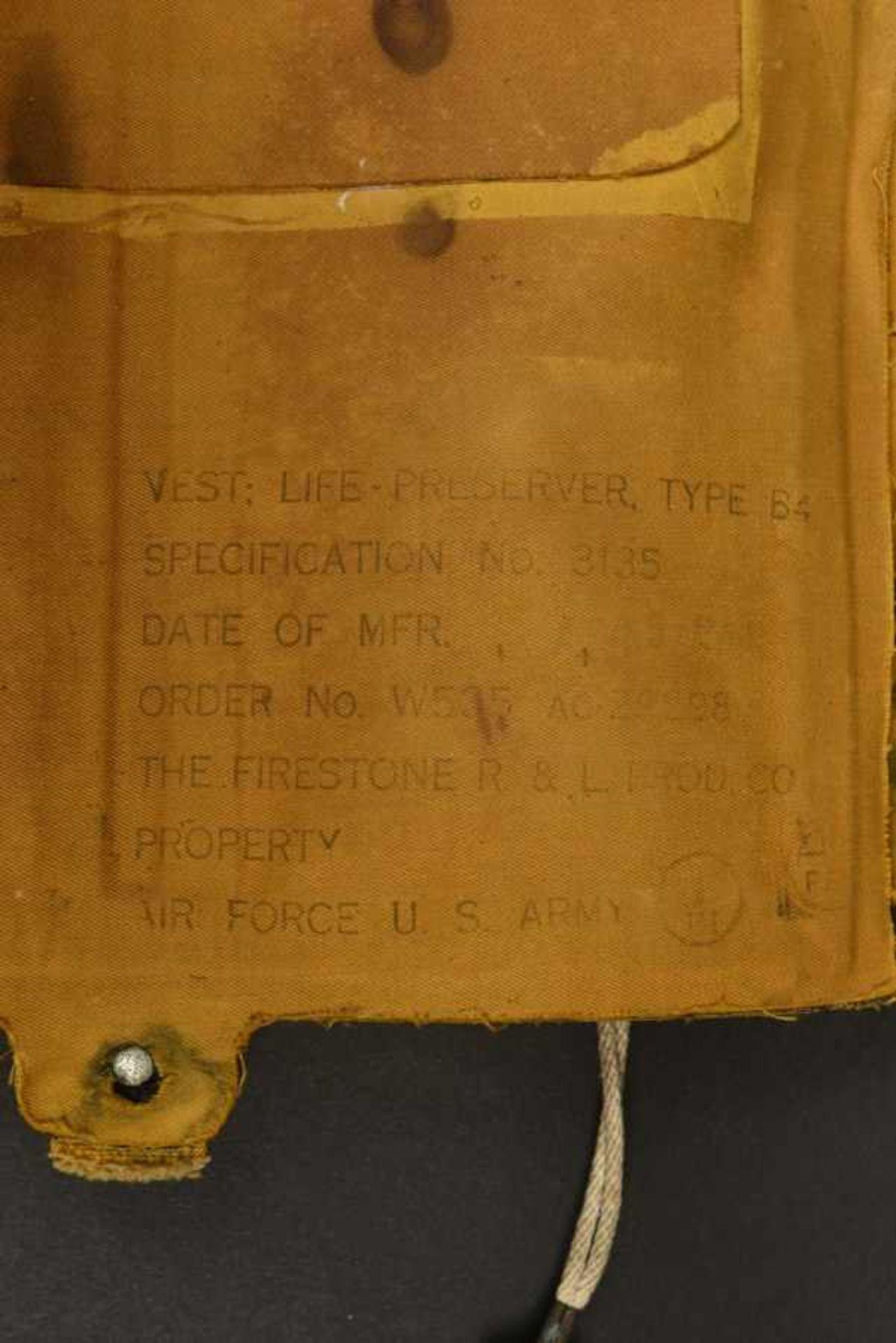 Gilet de sauvetage B-4 du 501ème PIR de la 101ème Airborne B-4 life jacket of the 501th PIR of the - Bild 3 aus 4