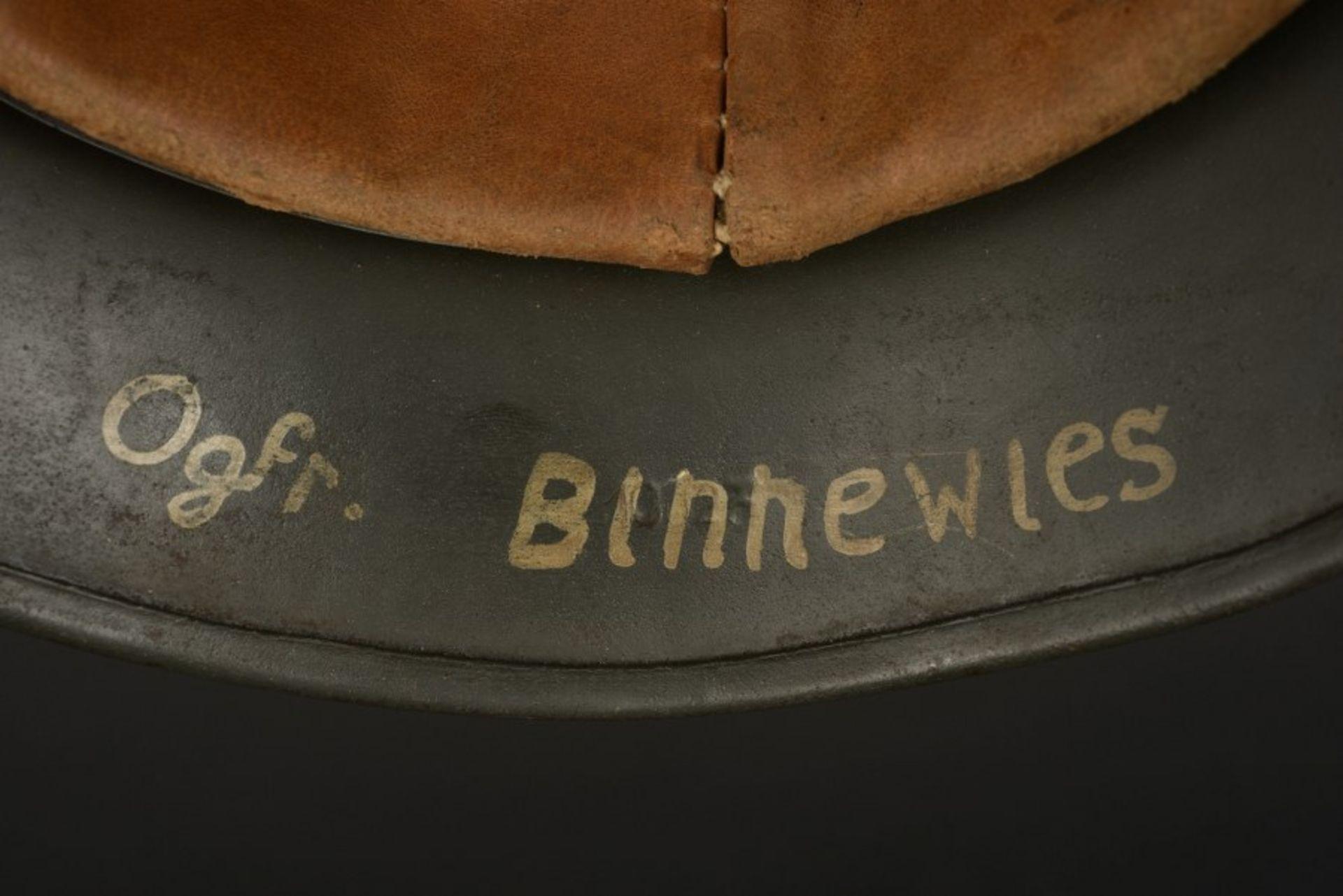 Casque camouflé de l'Obergefreiter Binnewies. Camouflaged helmet belonging to Obergefreiter - Bild 4 aus 4