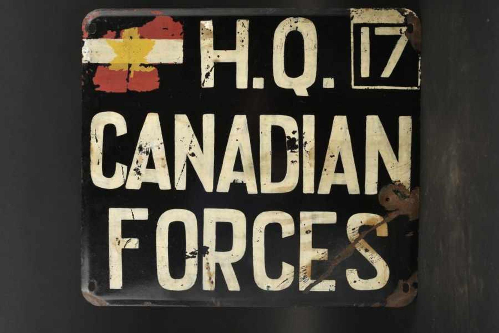 Los 48 - Panneau de l'Etat Major du Général Simonds commandant du 2nd canadian Corps. Staff HQ Panel ,