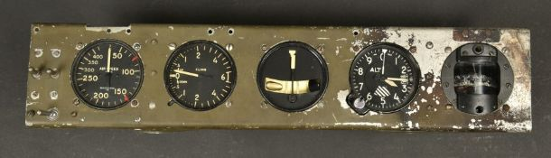 Tableau de bord de planeur américain. Instrument panel from an American gliderCardre en aluminium