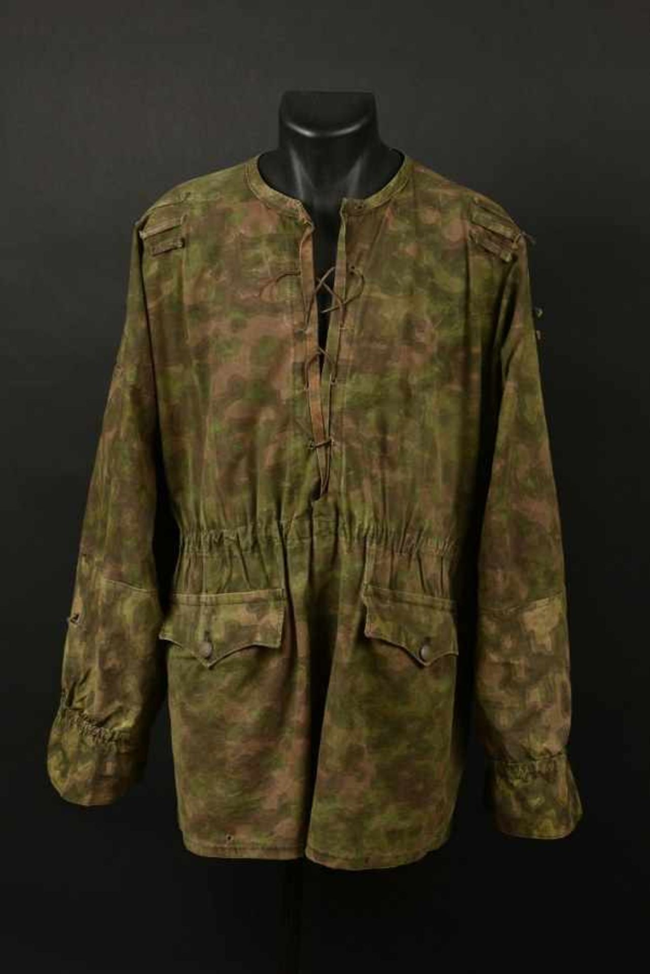 Tarnjacke de la Waffen SS. Tarnjacke of the Waffen SSCamouflage réversible type Blue Edge,