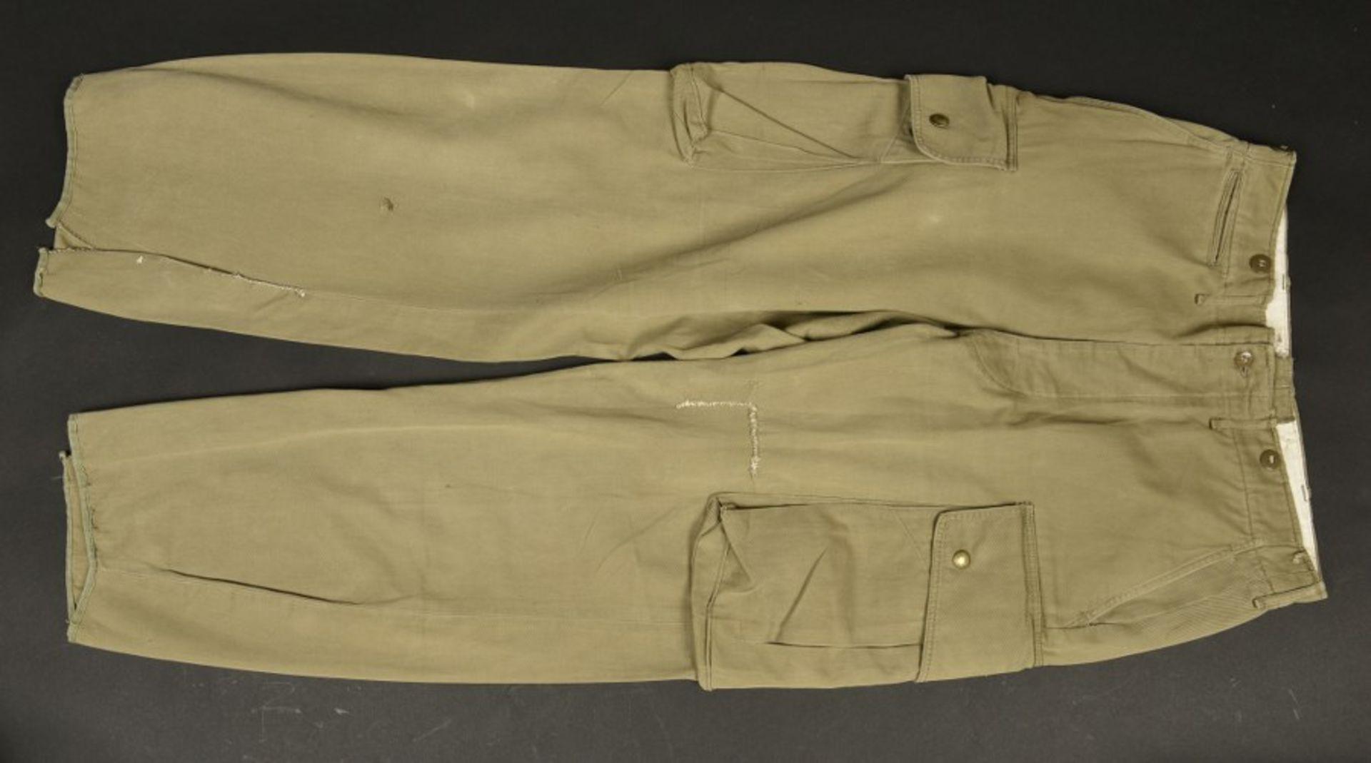 Pantalon du parachutiste américain B Orsborn. Pants of American paratrooper B OrsbornEn popeline,