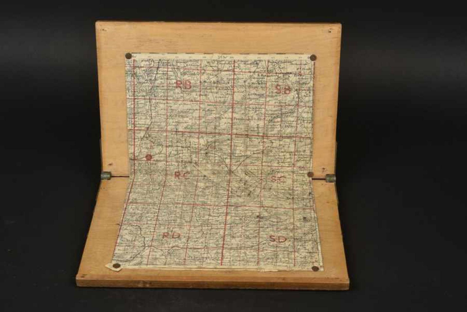 Carte d'Etat Major du secteur de Chênedollé, lieu d'un important combat de blindés entre Willy Fey