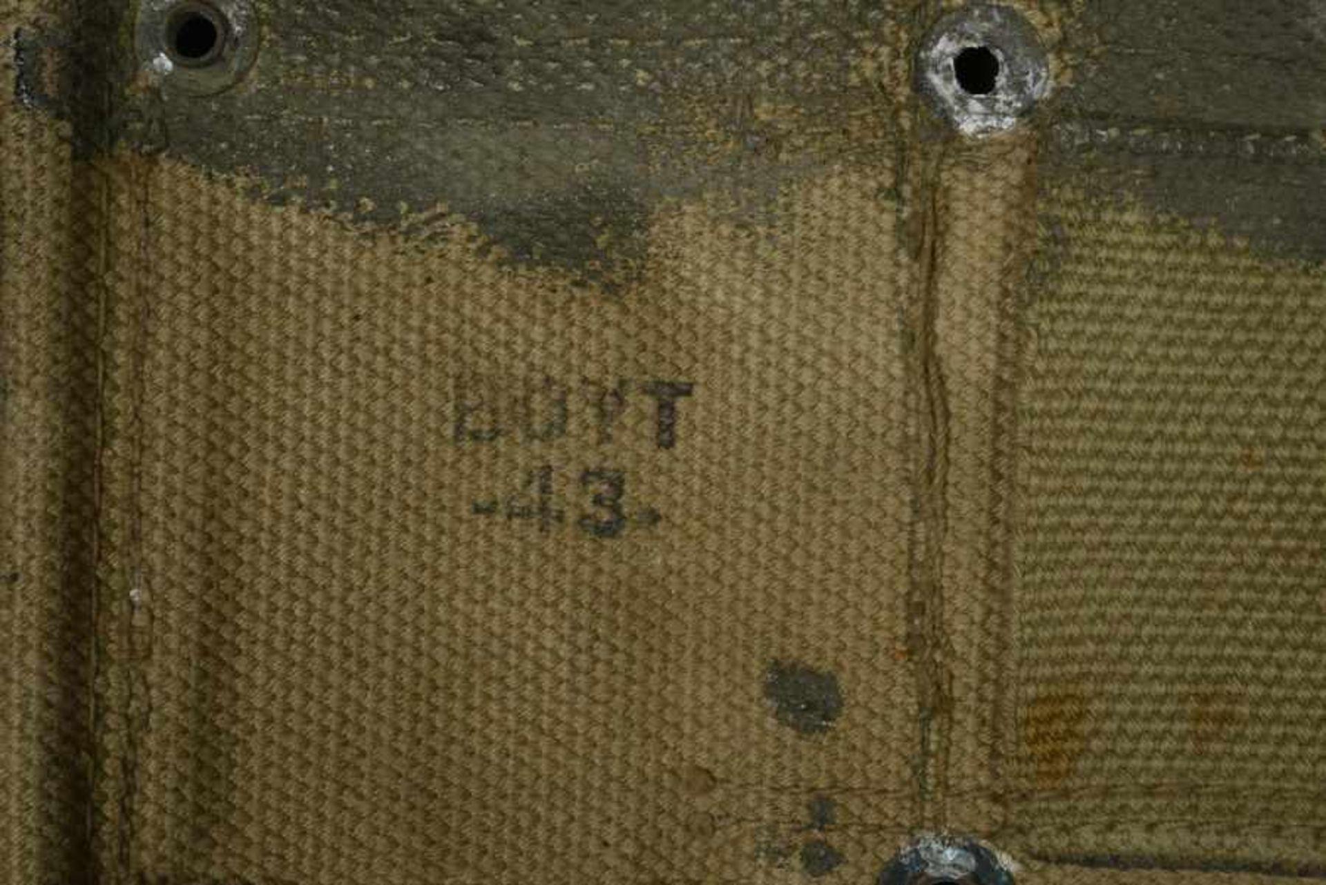Ceinturon Garand camouflé. Camouflaged Garand Belt Ceinturon Garand en toile OD, peinture camouflé - Bild 3 aus 4