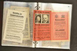 Tracts allemandClasseur contenant 100 tracts divers, en allemand, beaucoup traitent des