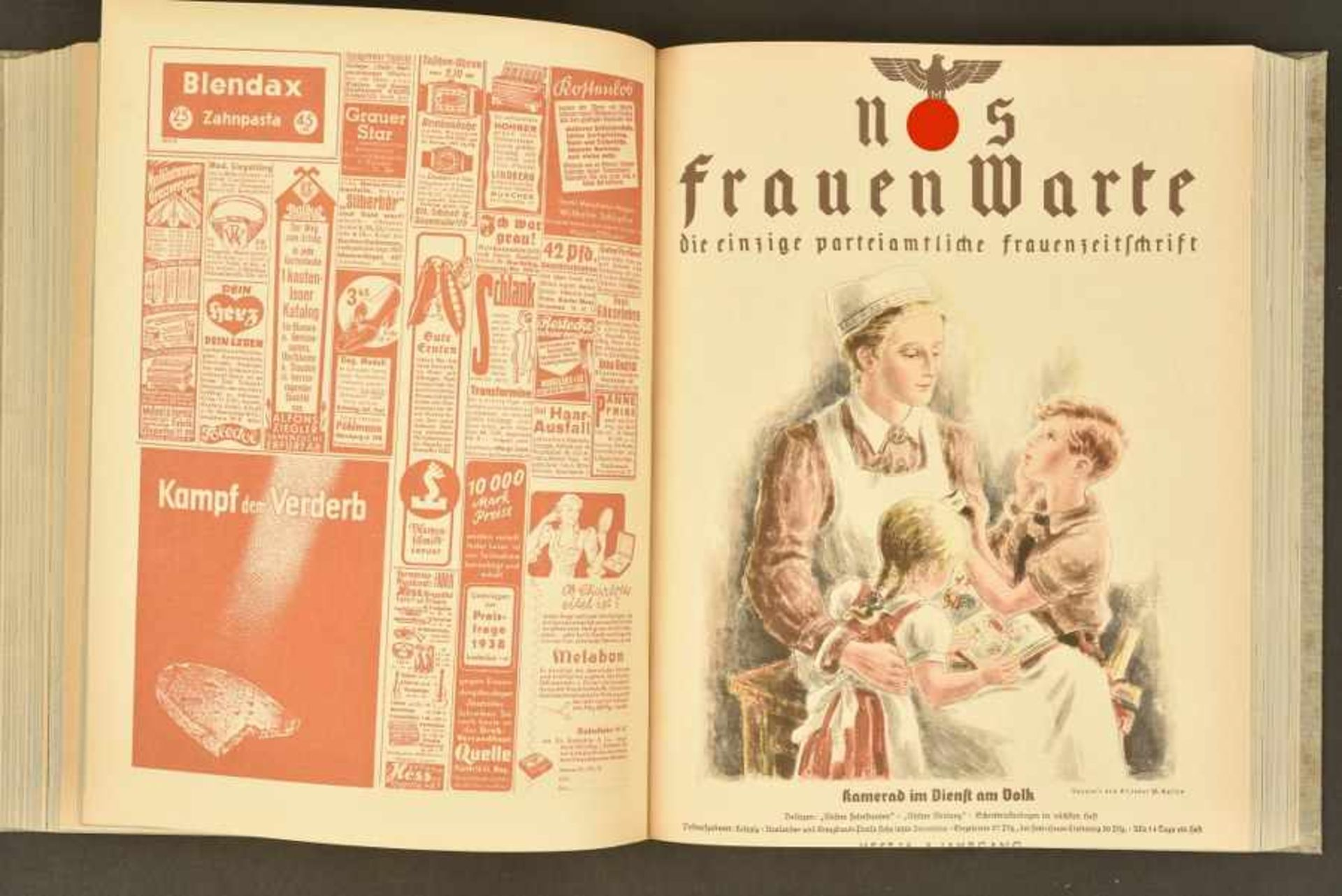 Los 1845 - Ouvrage NS FrauenwarteOuvrage complet. Couverture marquée en lettre d'or NS Frauenwarte, et l'