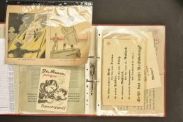 Tracts allemandClasseur contenant 55 tracts divers, en allemand, français et anglais. Copies de neuf