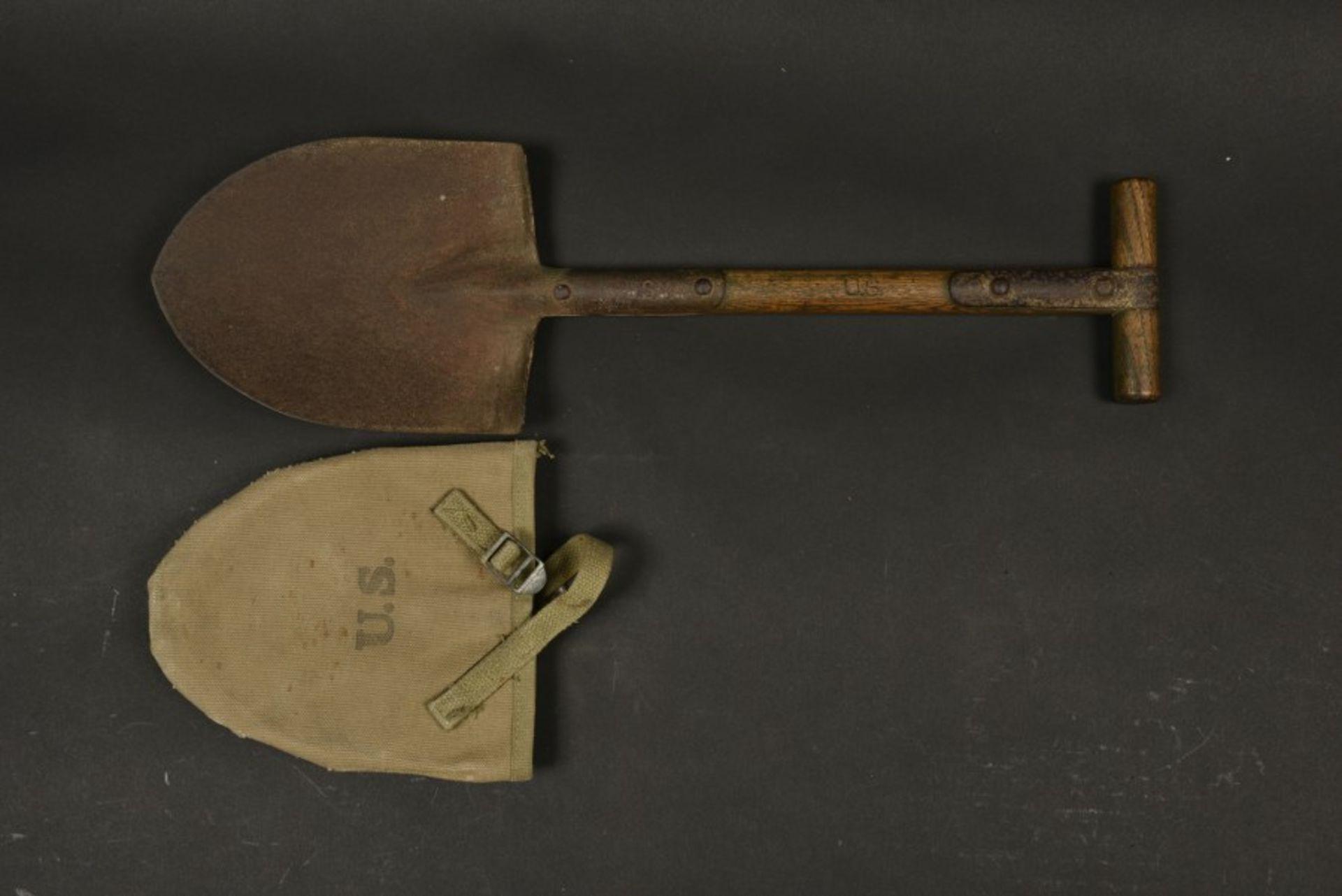 Pelle de l'infirmier parachutiste Jack Truman. Shovel belonging to paratrooper medic Jack - Bild 4 aus 4