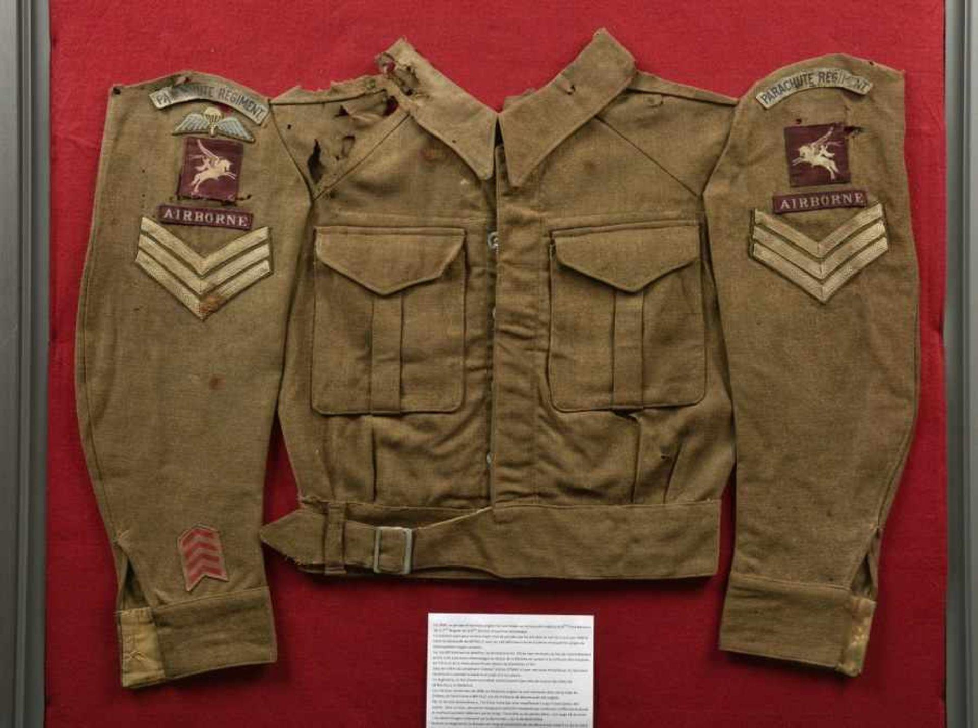 Los 41 - Relique de Battle Dress du 9ème battaillon de la 6ème Airborne. Remains of the Battledress of the