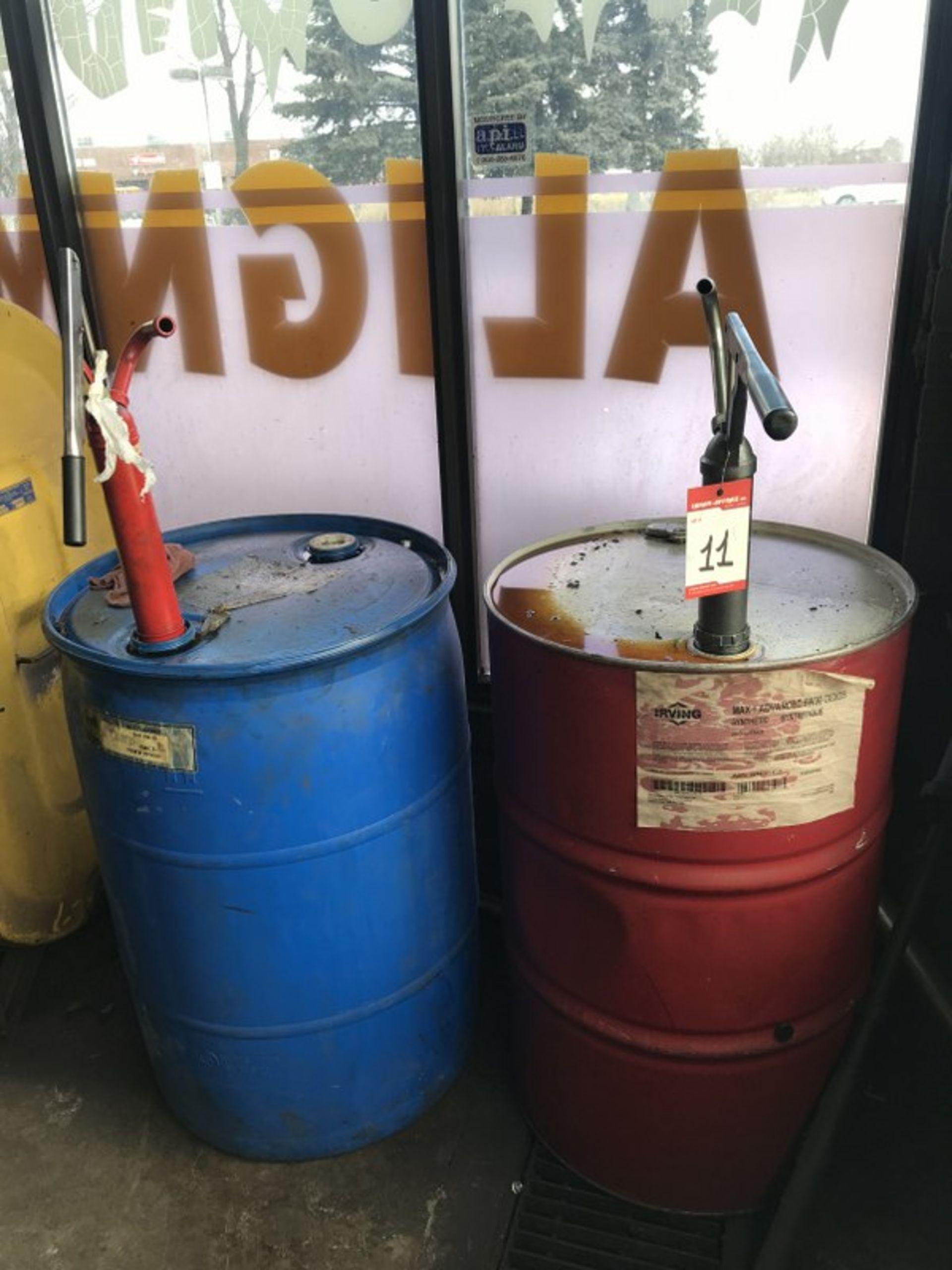Lot 11 - IRVING OIL BARRELS x 2 W/MANUAL PUMPS