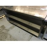 "Lot 24 - STAINLESS STEEL SHELVING UNIT 72""L X 15""W X 36""H"