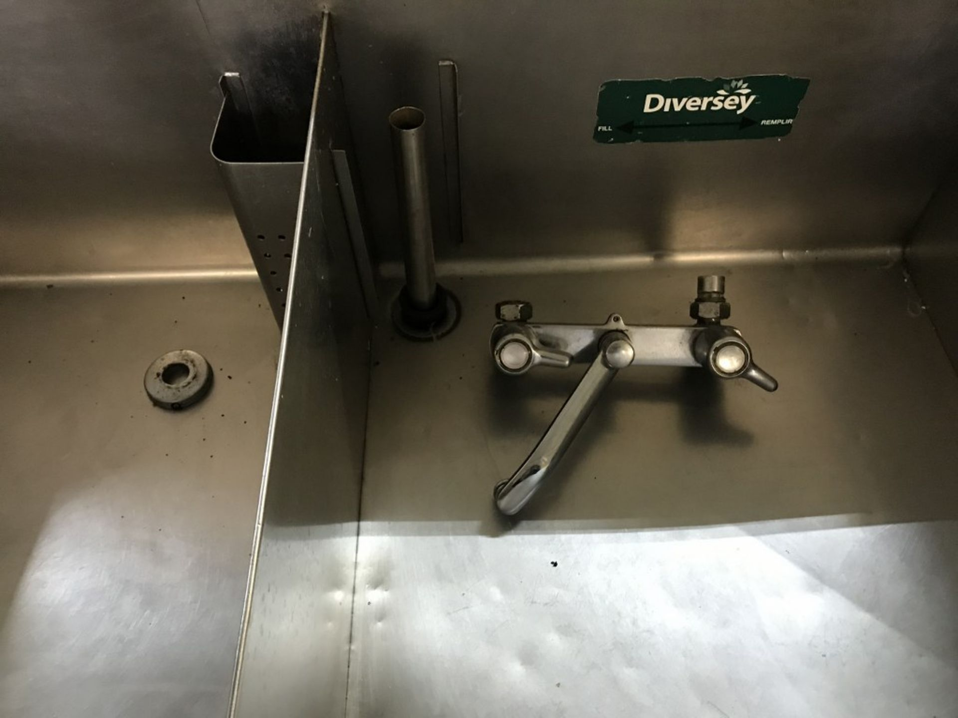 """Lot 18 - 2-WELL STAINLESS STEEL SINK. 75""""L X 28""""W X 41H"""