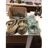 LOT OF STRAPS AND SAFETY GLASSES