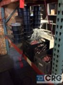 Lot of assorted extension cords, totes, spools etc, contents of pallet rack, excluding furnace