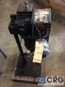 Rapid Aire coil unwinder/feeder, model NA, serial 472?, with roll feeder.