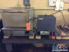 Lot of four assorted shop furnaces, including Thermolyne model 48025, Thermolyne model FB1410M,