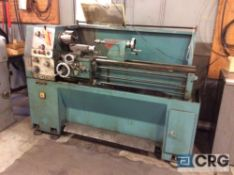 Dar-Sin tool room engine lathe,model DSL-1340GH, serial 870001, 14 inch by 42 inch BC, compound