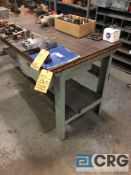 Lot of 14 assorted work benches etc, no contents.