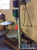 Coilmate Presspal roll unwinder, serial CM490-2, 3500 lb capacity, 120 volt, 3 phase.