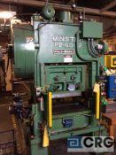 "Minster S.S. Press, 60 ton capacity, ""Piece Maker"", serial P2-60-14884, model P2-60-32, air clutch,"