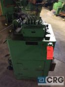 Cooper Weymouth stock straightener, serial V4938, 4 inch width, 9 roll cap, 230 volt, 3 phase.